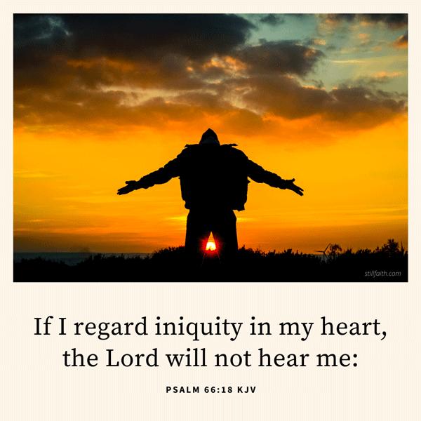 Psalm 66:18 KJV Image