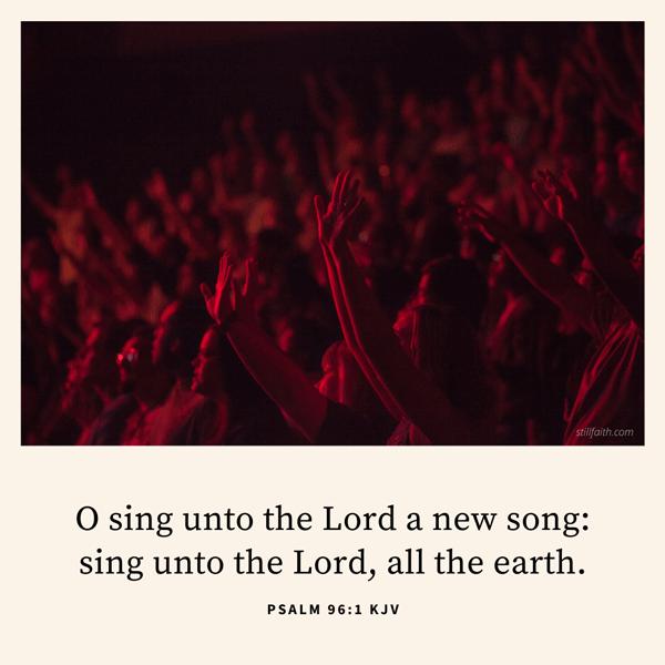 Psalm 96:1 KJV Image