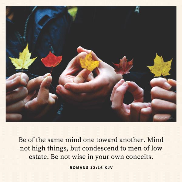 Romans 12:16 KJV Image