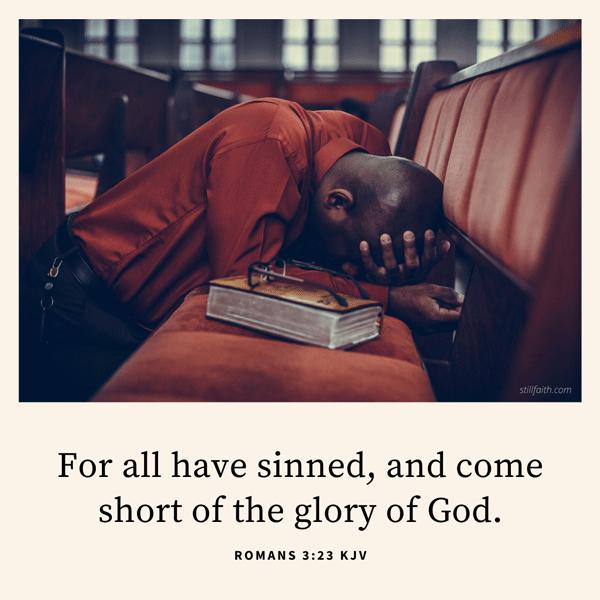 Romans 3:23 KJV Image