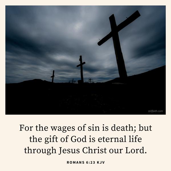 Romans 6:23 KJV Image