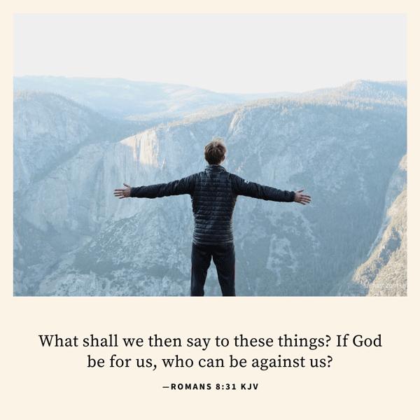 Romans 8:31 KJV Image