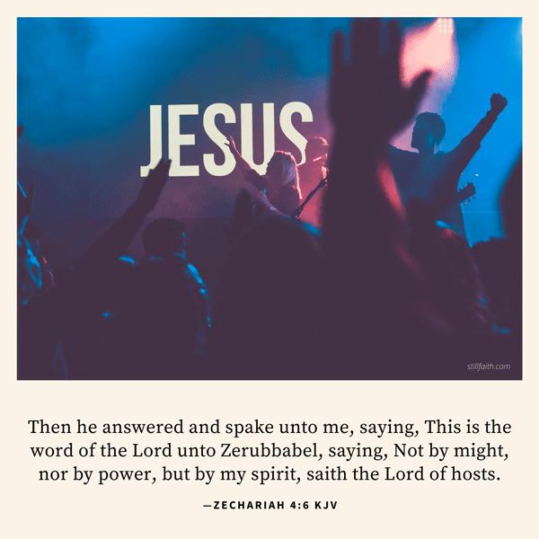 Zechariah 4:6 KJV Image