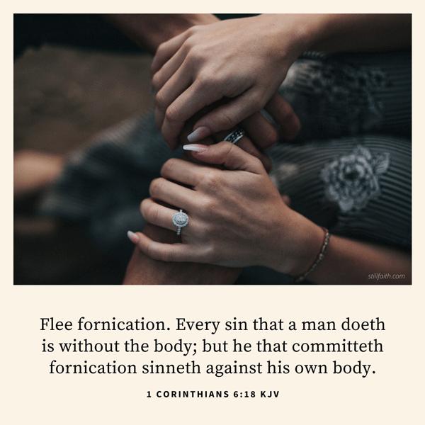 1 Corinthians 6:18 KJV Image