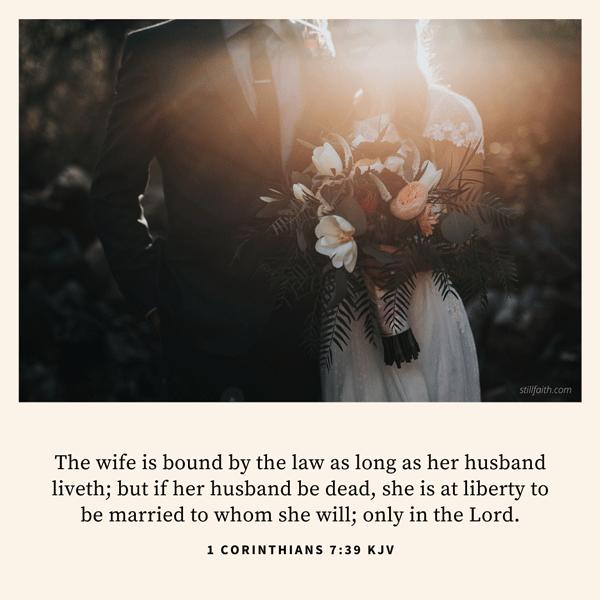 1 Corinthians 7:39 KJV Image