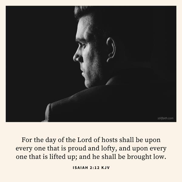 Isaiah 2:12 KJV Image