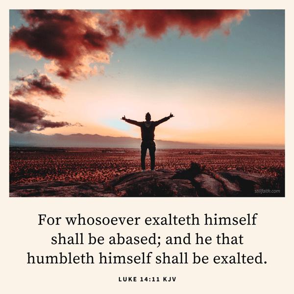 Luke 14:11 KJV Image