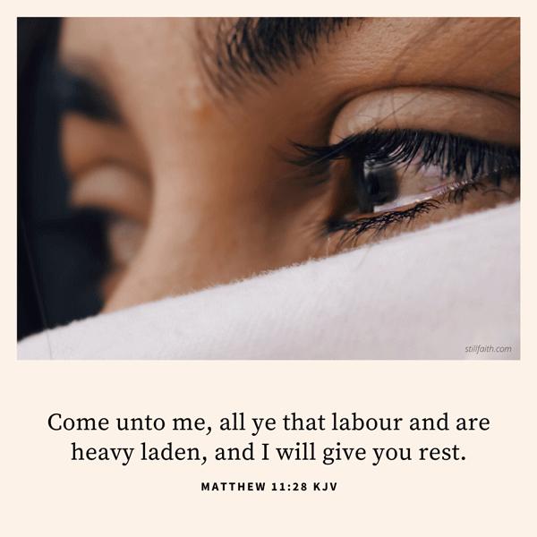 Matthew 11:28 KJV Image