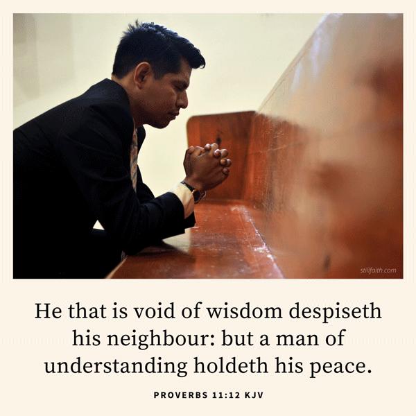 Proverbs 11:12 KJV Image