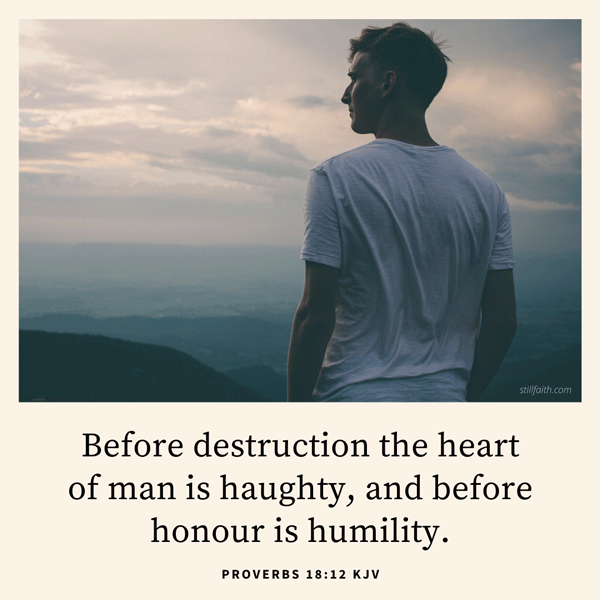 Proverbs 18:12 KJV Image