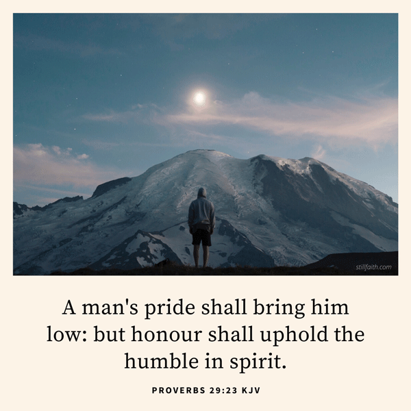 Proverbs 29:23 KJV Image