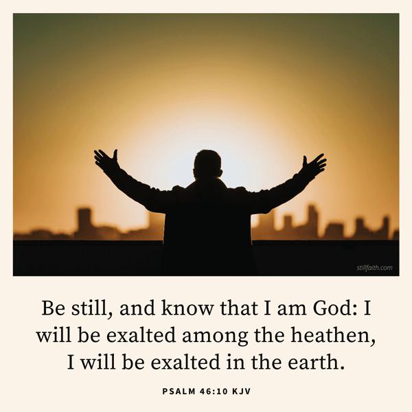 Psalm 46:10 KJV Image