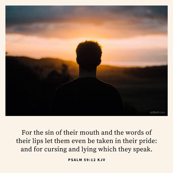Psalm 59:12 KJV Image