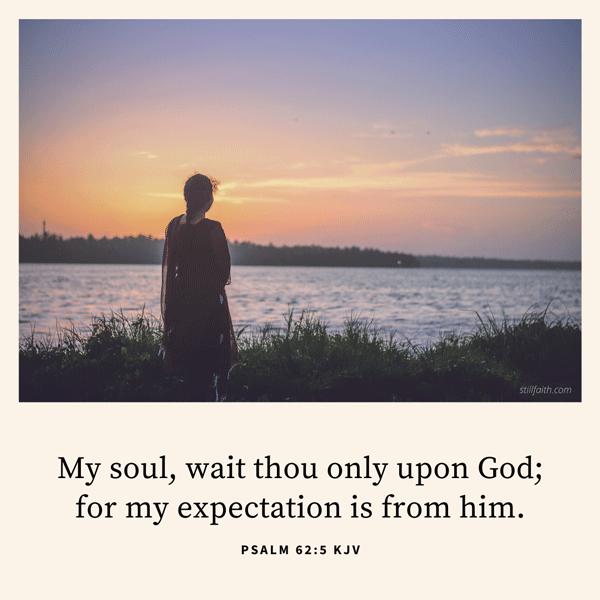 Psalm 62:5 KJV Image