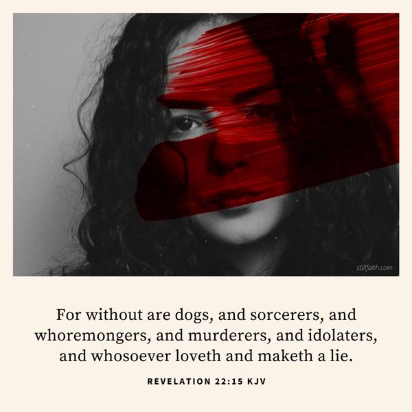 Revelation 22:15 KJV Image