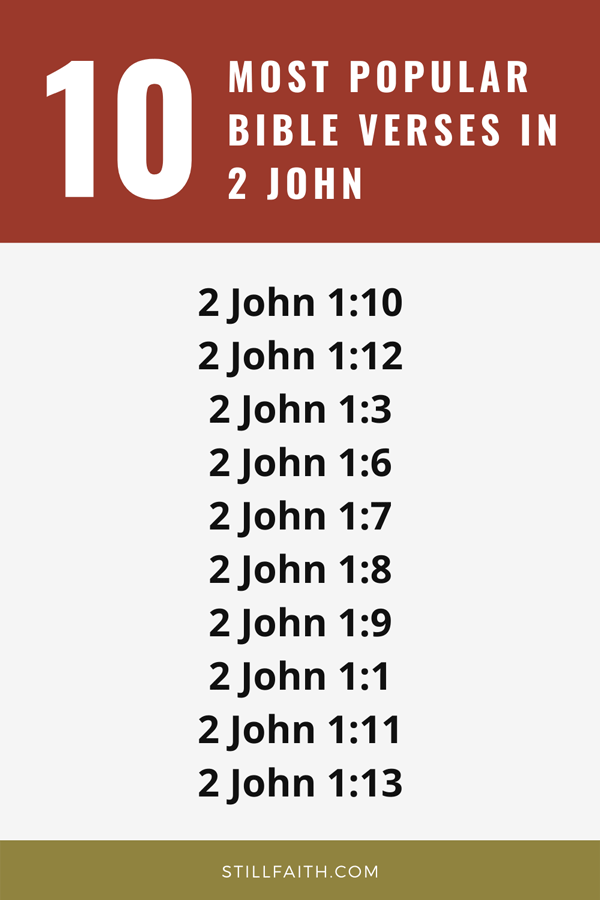 Top 10 Most Popular Bible Verses in 2 John