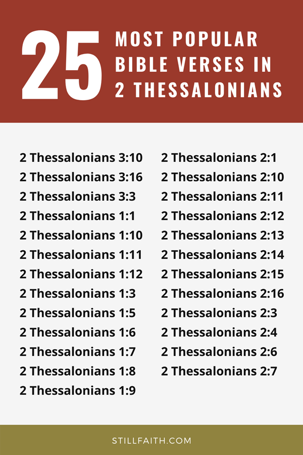 Top 25 Most Popular Bible Verses in 2 Thessalonians
