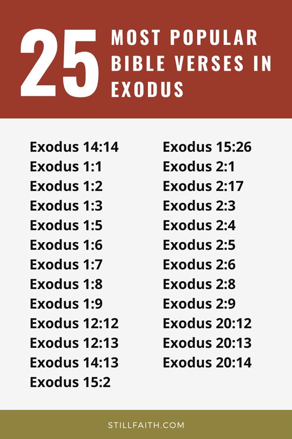 Top 25 Most Popular Bible Verses in Exodus