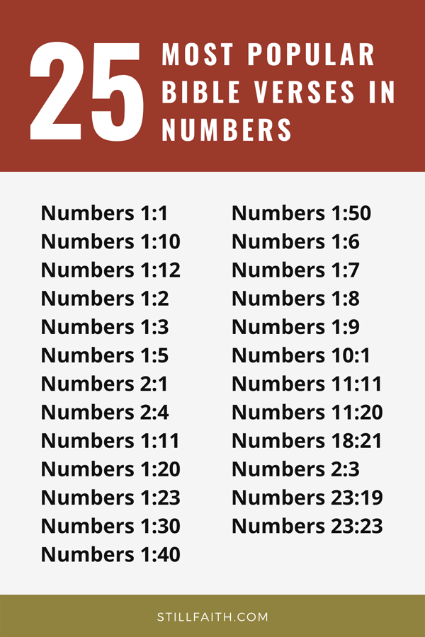 Top 25 Most Popular Bible Verses in Numbers