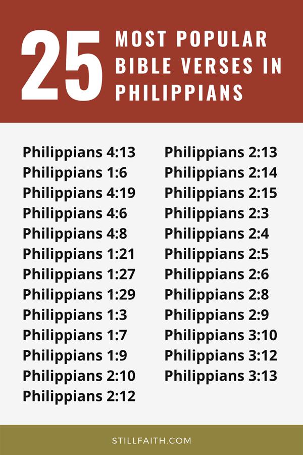 Top 25 Most Popular Bible Verses in Philippians