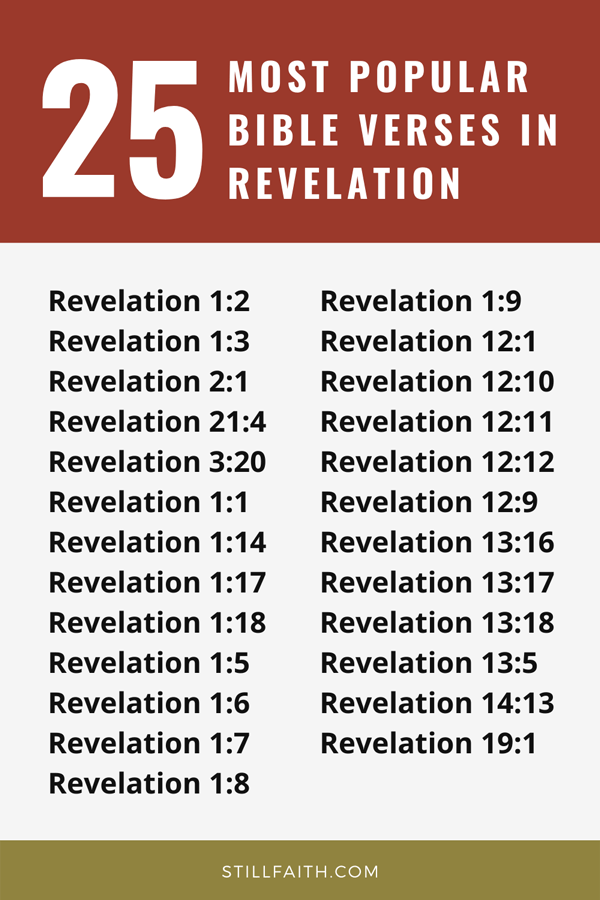 Top 25 Most Popular Bible Verses in Revelation
