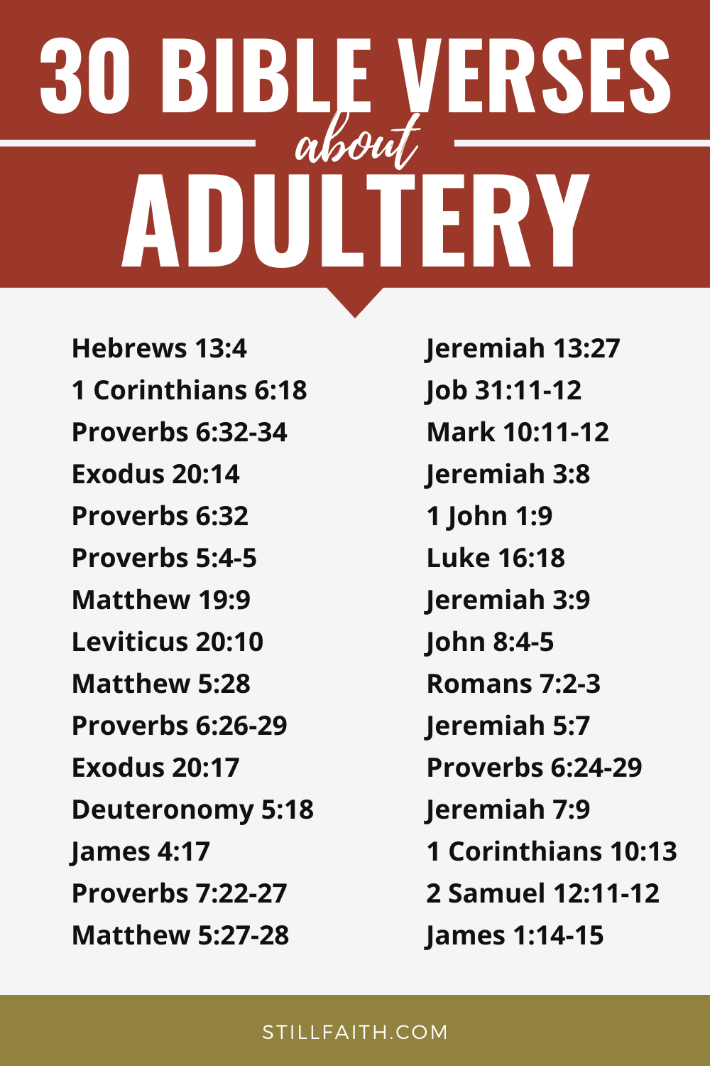 128 Bible Verses about Adultery
