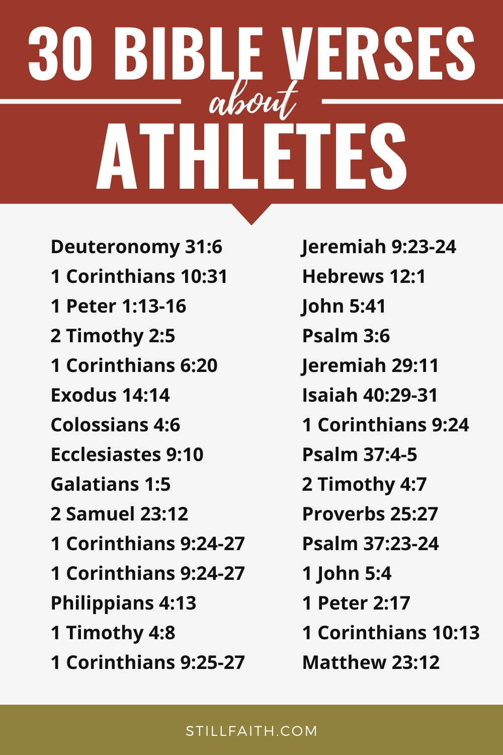 188 Bible Verses about Athletes