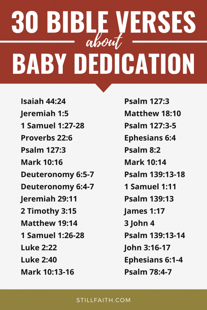 101 Bible Verses about Baby Dedication