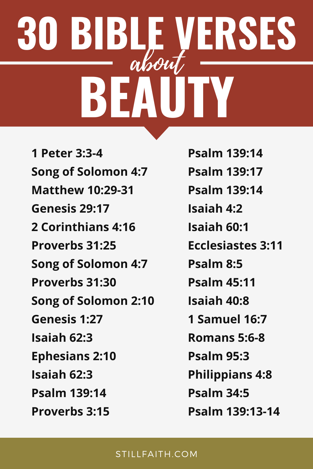 157 Bible Verses about Beauty
