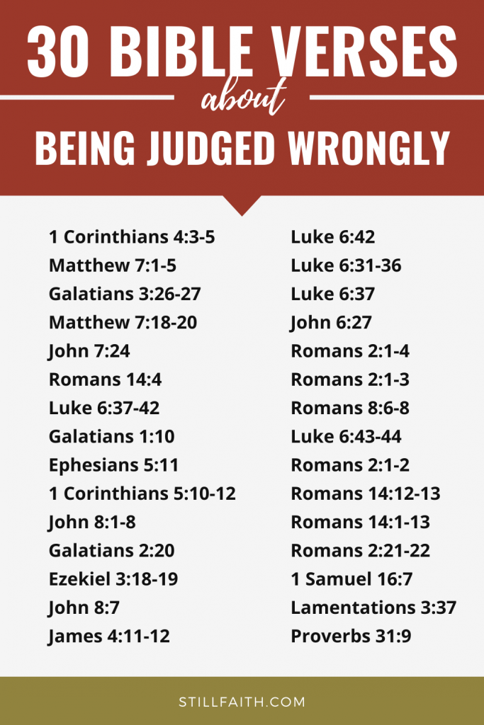 82 Bible Verses about Being Judged Wrongly