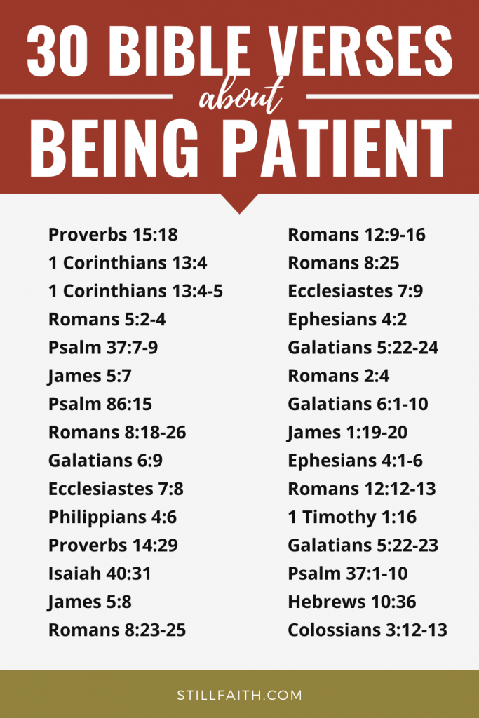 143 Bible Verses about Being Patient