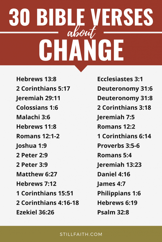 173 Bible Verses about Change