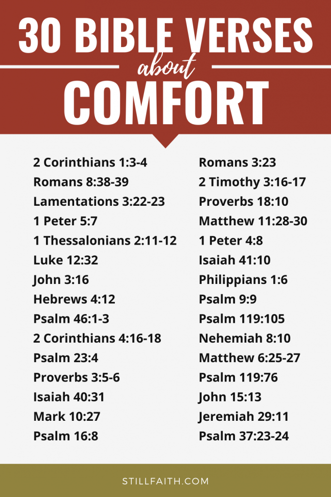 274 Bible Verses about Comfort