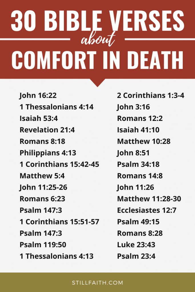 65 Bible Verses about Comfort in Death