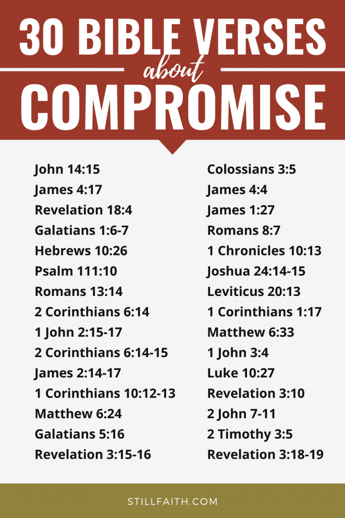 138 Bible Verses about Compromise
