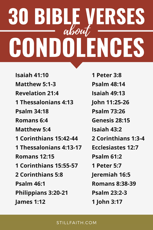153 Bible Verses about Condolences