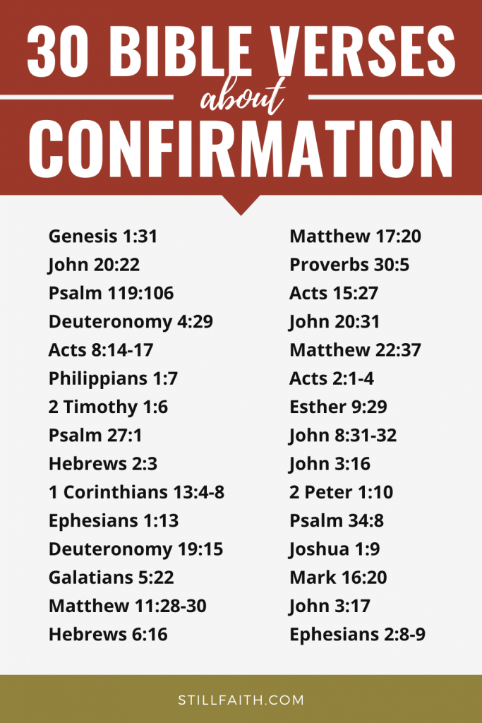 108 Bible Verses about Confirmation