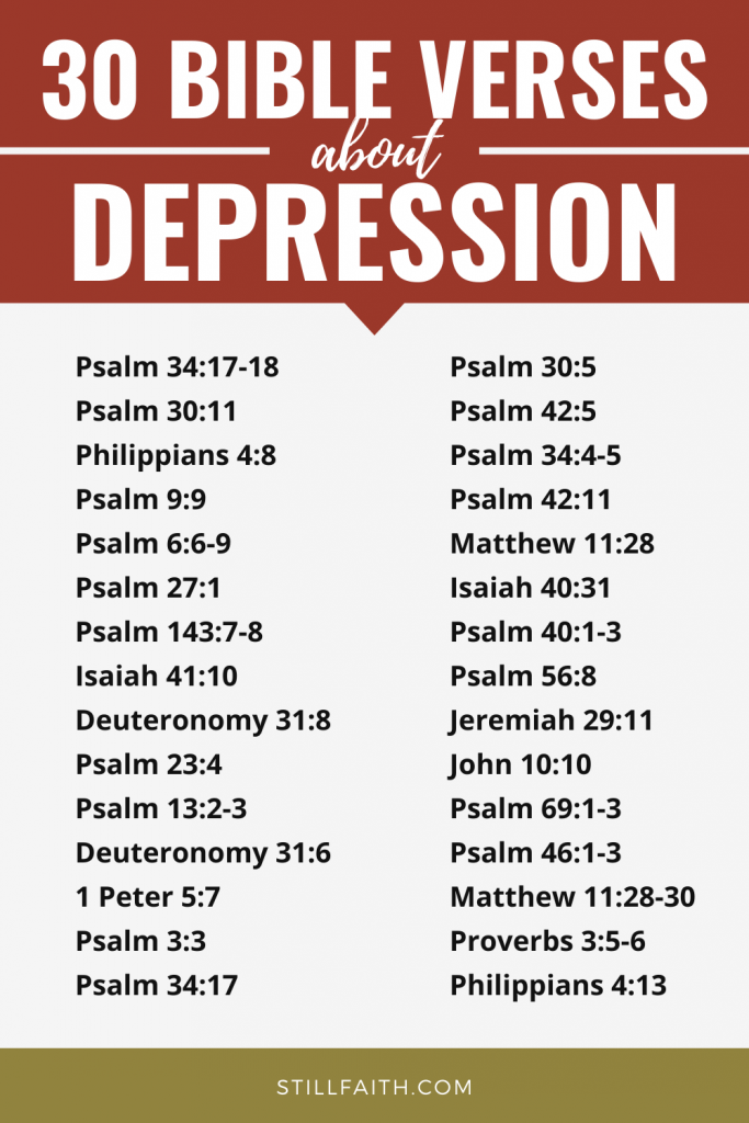 121 Bible Verses about Depression