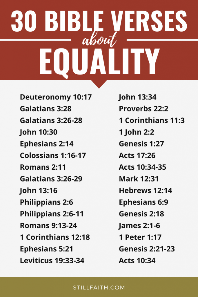 97 Bible Verses about Equality
