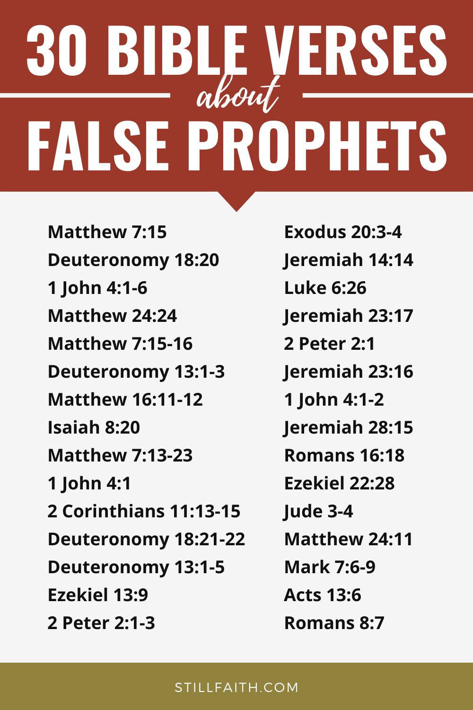 183 Bible Verses about False Prophets