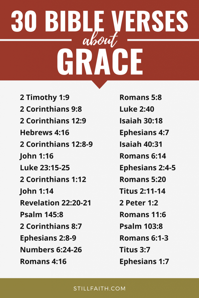 127 Bible Verses about Grace
