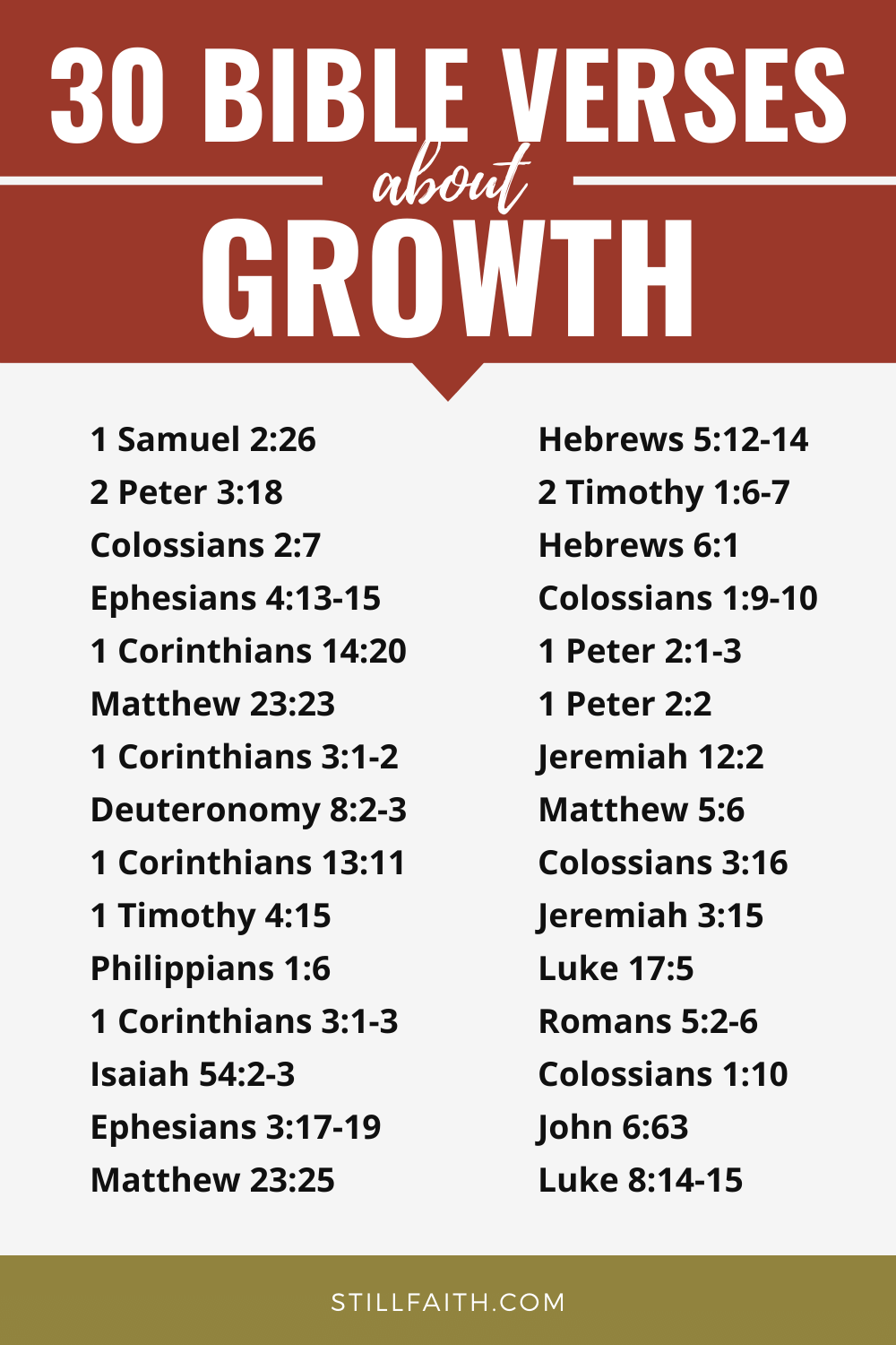 255 Bible Verses about Growth