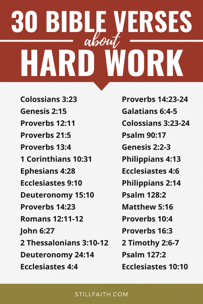 157 Bible Verses about Hard Work