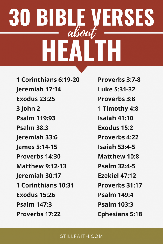 197 Bible Verses about Health