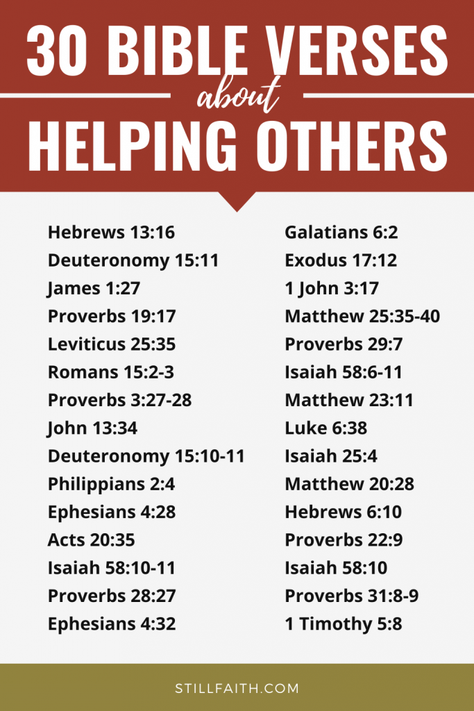 144 Bible Verses about Helping Others