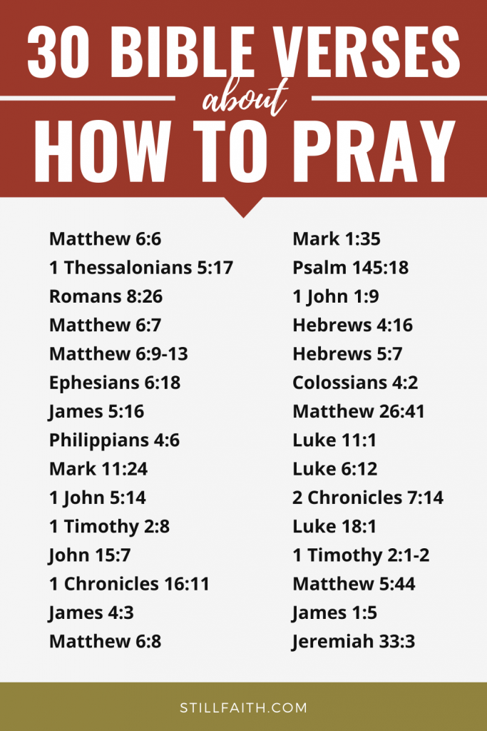 85 Bible Verses about How to Pray