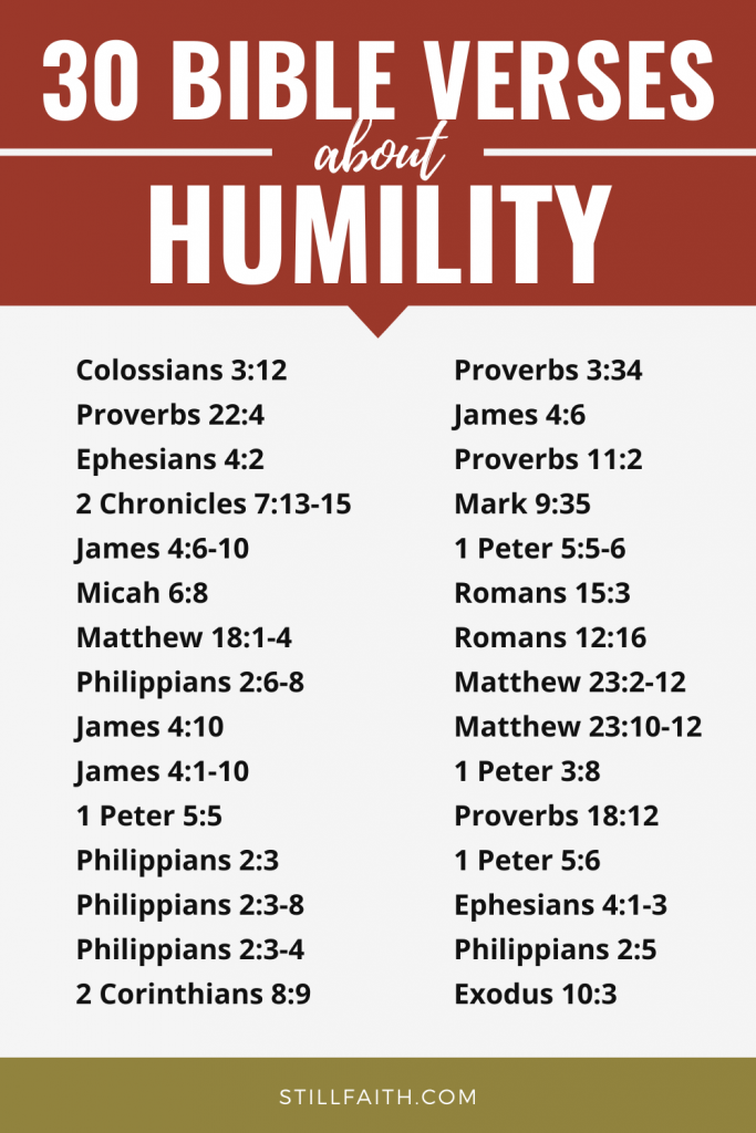 177 Bible Verses about Humility