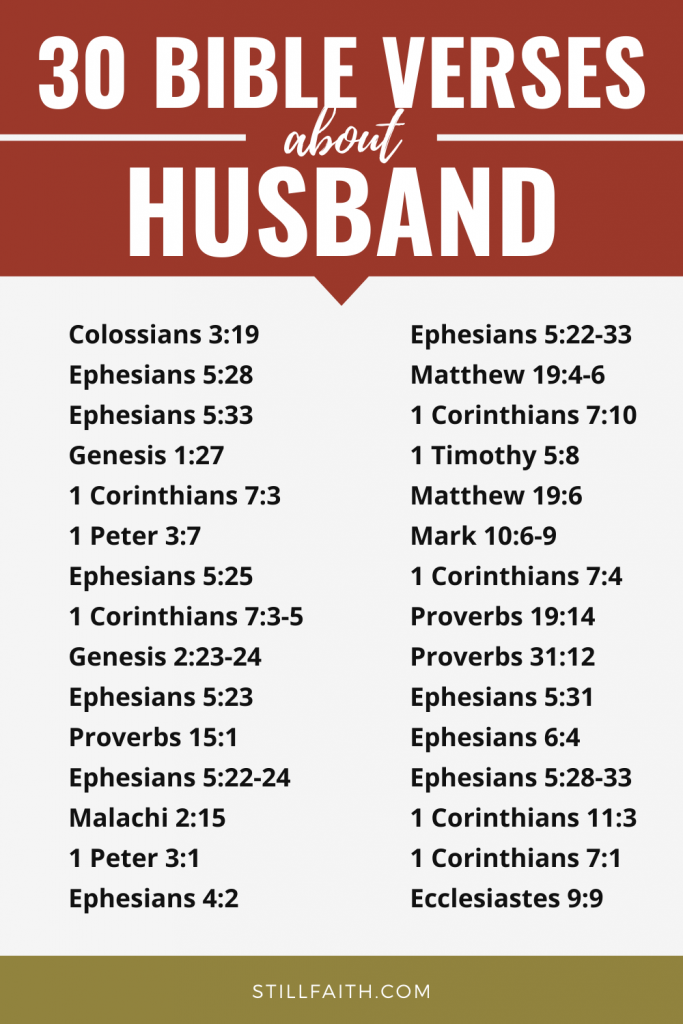 159 Bible Verses about Husband
