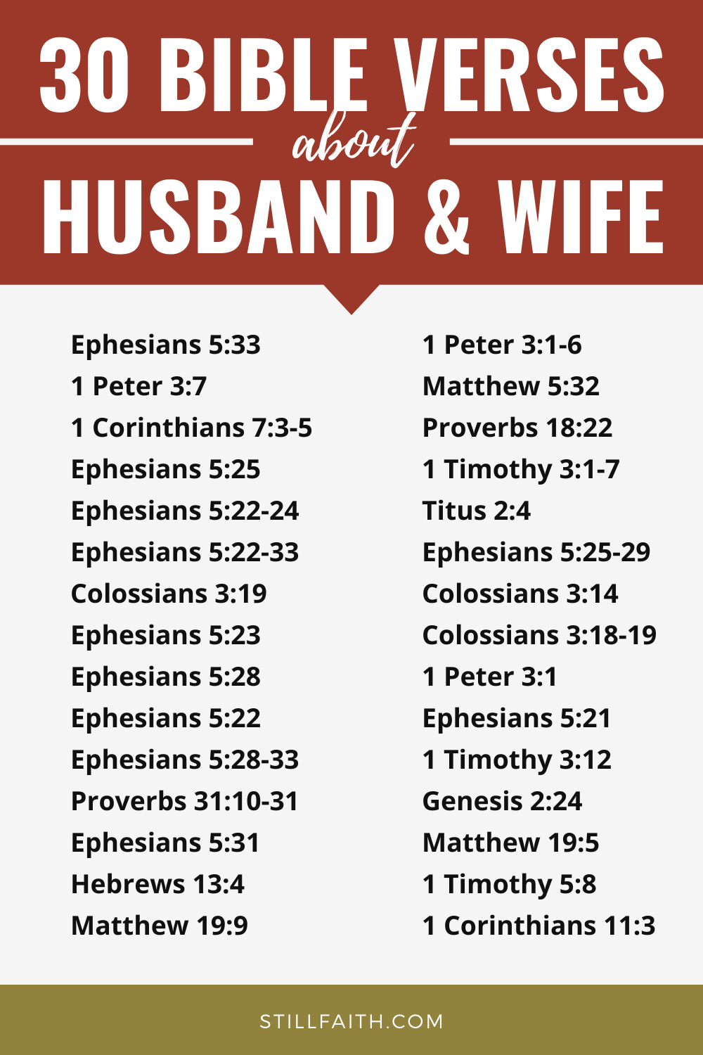99 Bible Verses about Husband and Wife