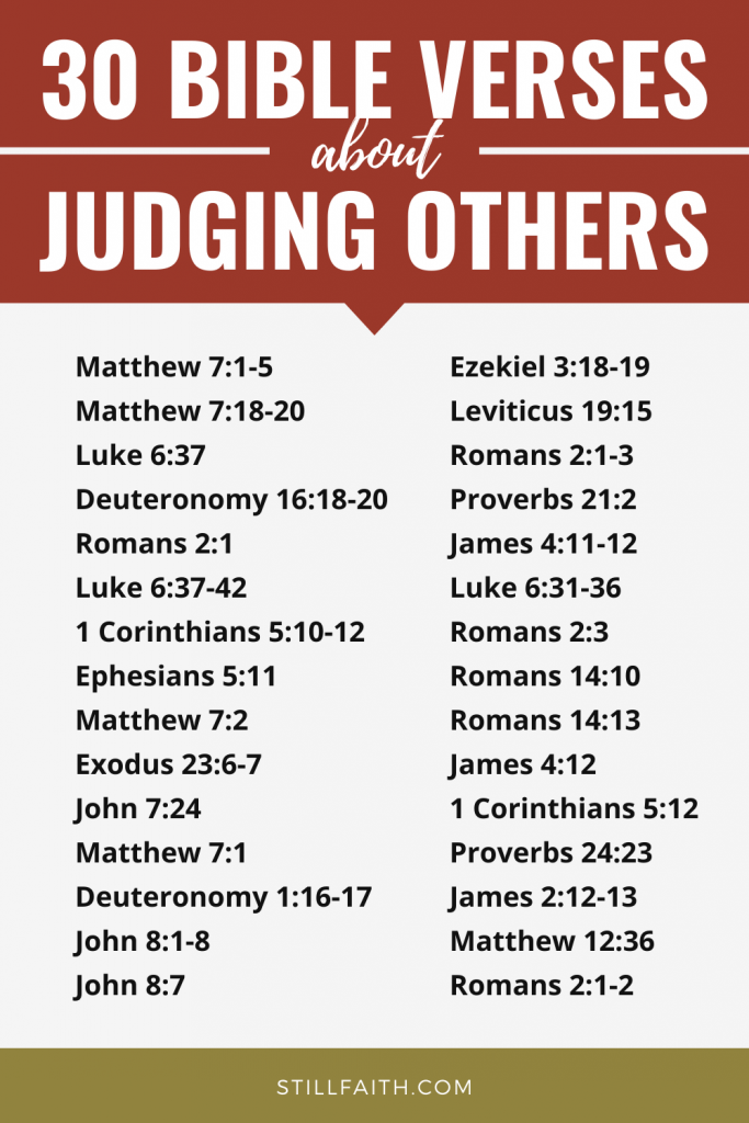 194 Bible Verses about Judging Others